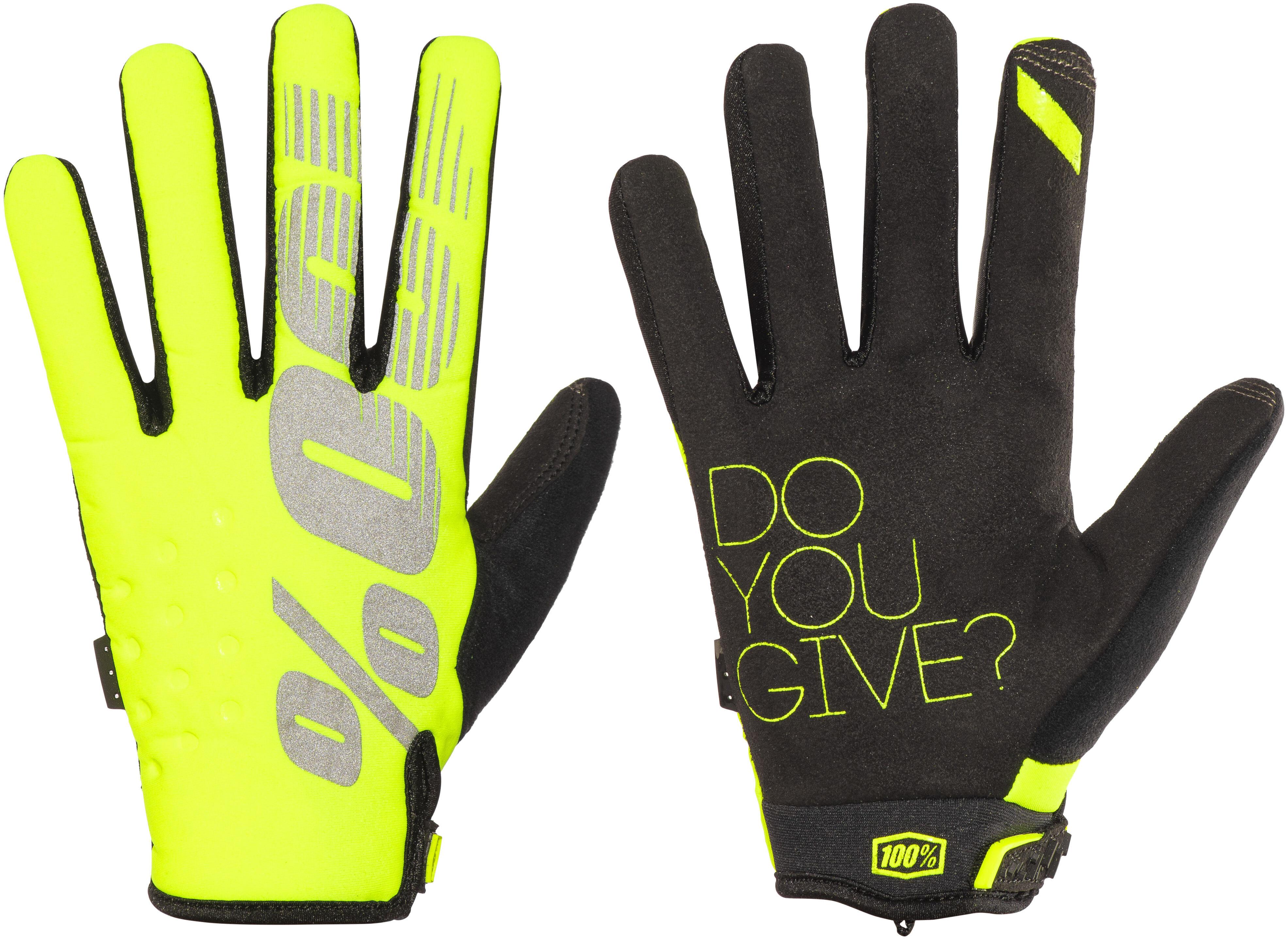 100 Brisker Bike Gloves Yellow Black At Addnature Co Uk